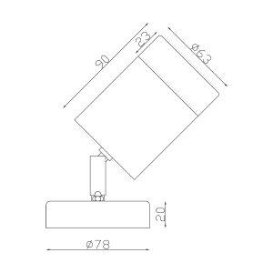 304 Stainless Steel Exterior Single Adjustable Dimensions - EXTSA304