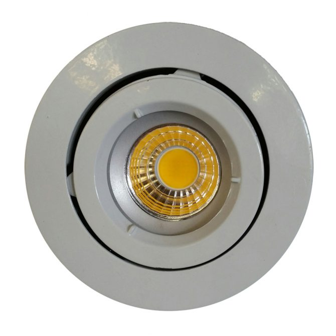 9w COB GU10 LED Downlight Kit 90mm wh