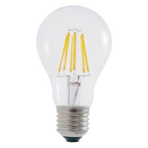 A19 E27 6W LED Globe Clear - LEDA196WE27CL - PW - CW - WW