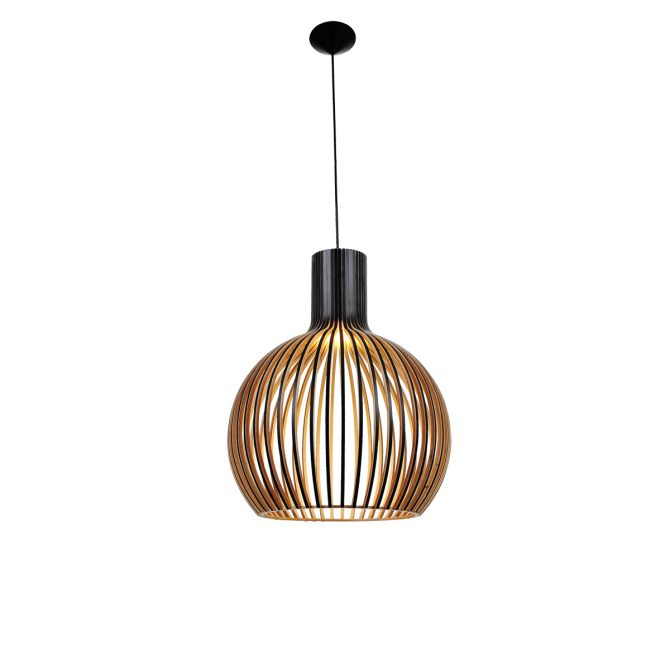 Bell 580 Black Pendant Light - P1064BELL580B