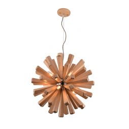 Burst 550 Wooden Pendant Light - P1118BUR55WDN