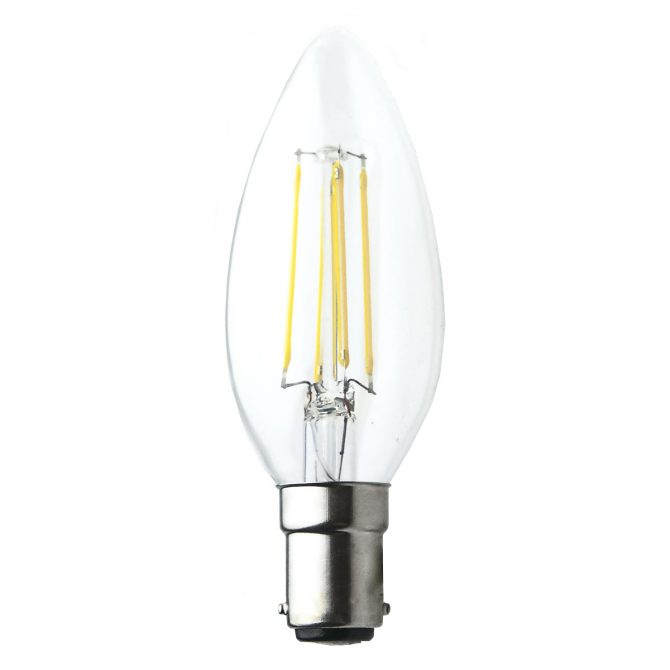 Candle B15 4W LED Globe Clear - LEDCAN4WB15CL - PW - CW - WW
