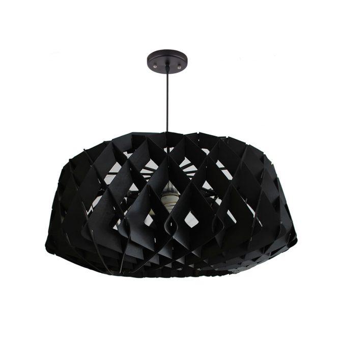Hive 600 Black Pendant Light - P1022HIVE600B