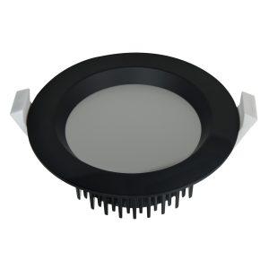 13 watt Dimmable LED Downlight Kit Low Profile – Cool White – Black Frame