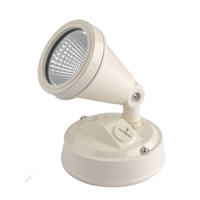 LED Single Beige Exterior Spot Light - LEDSPTSINBGE