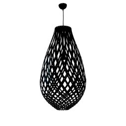 Ovaloid 500 Black Pendant Light - P1113OVA50BLK