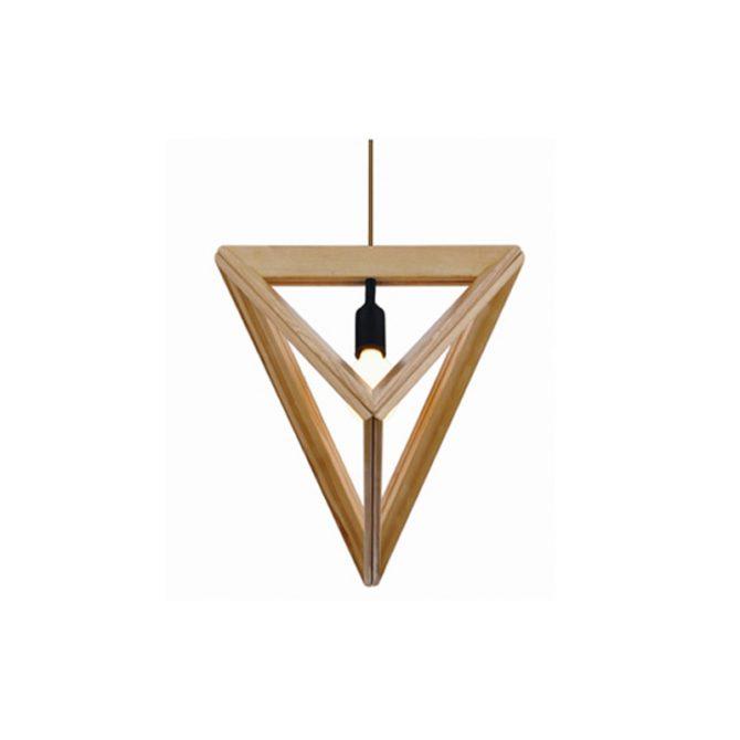 Pyramid 400 Wooden Pendant Light - P1044PYRAMID400