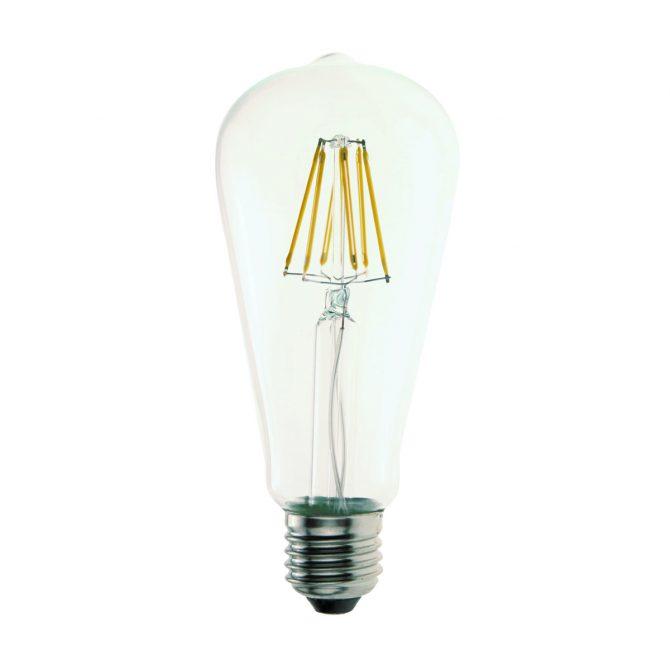 ST64 E27 6W LED Globe Clear - LEDST646WE27FR - PW - CW - WW