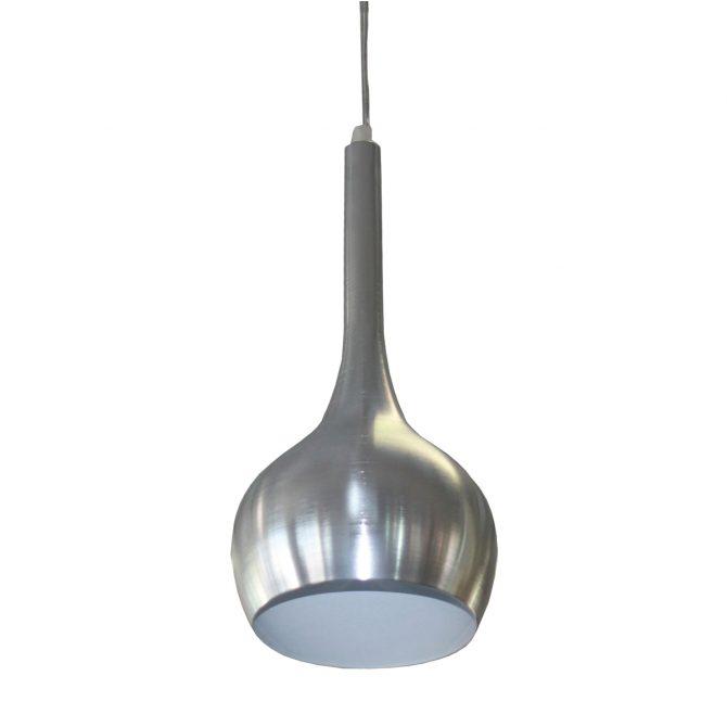 Shazie Brushed Chrome 1 Light Pendant - SP1012