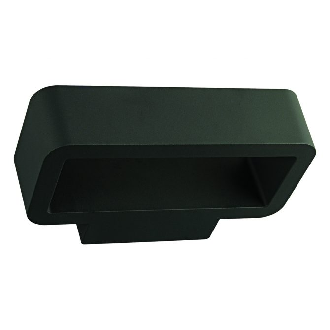 Quad LED Outdoor Black Wall Light - EXTLED1008
