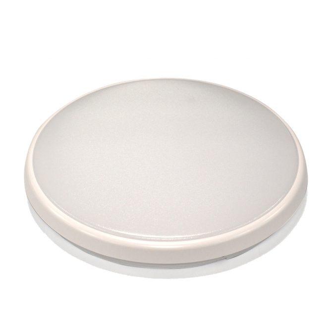 Round 18W LED Ceiling Light - White Frame in Cool White - LEDOYS18WRNDWHCW