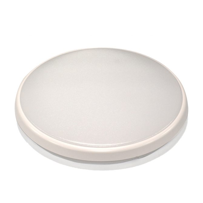 Round 18W LED Ceiling Light - White Frame in Warm White - LEDOYS18WRNDWHWW
