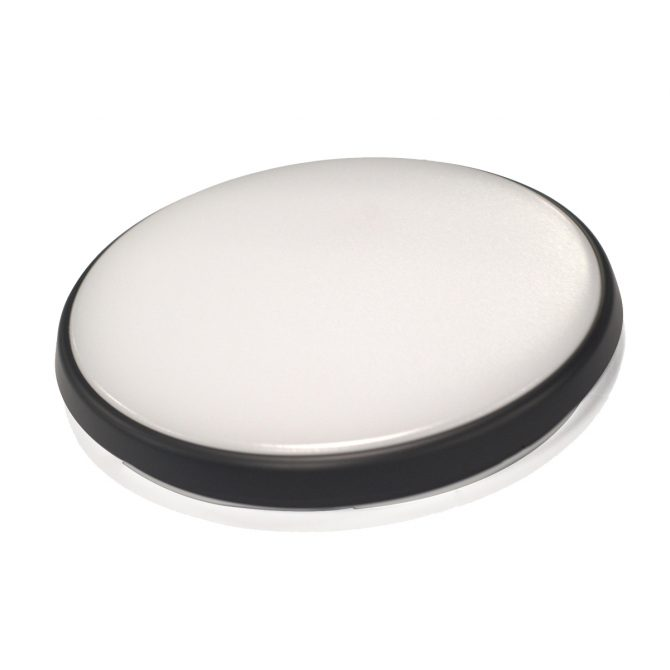 Round 28W LED Ceiling Light - Black Frame in Warm White - LEDOYS28WRNDBLWW