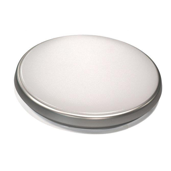 Round 28W LED Ceiling Light - Silver Frame in Warm White - LEDOYS28WRNDSILWW