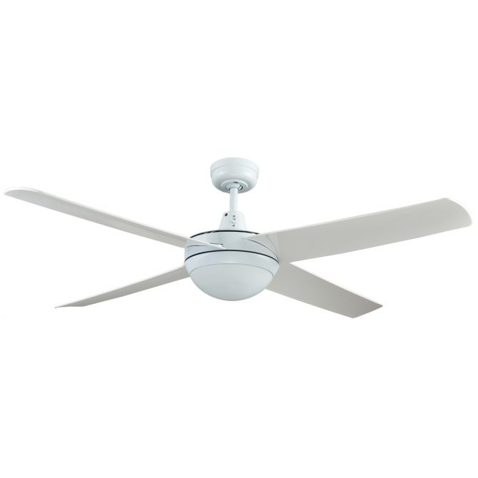 Rotor LED Light 52'' White Ceiling Fan with ABS Blades - ROTORW2